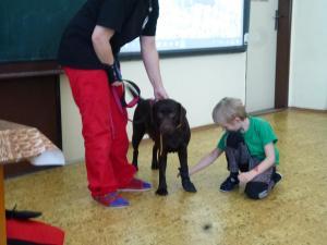 Beseda se záchranářkou a psem Tessie